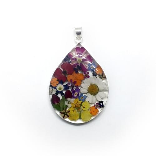 Tarka virágos extra nagy csepp medál (Cikkszám: 41401)