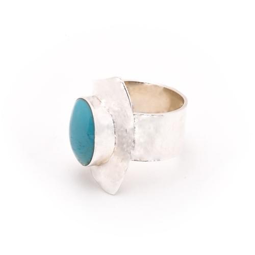 Rekonstruált türkiz gyűrű