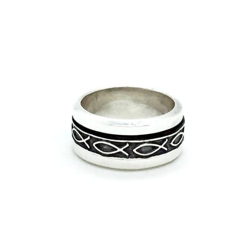 Forgatható sínes gyűrű, hal minta