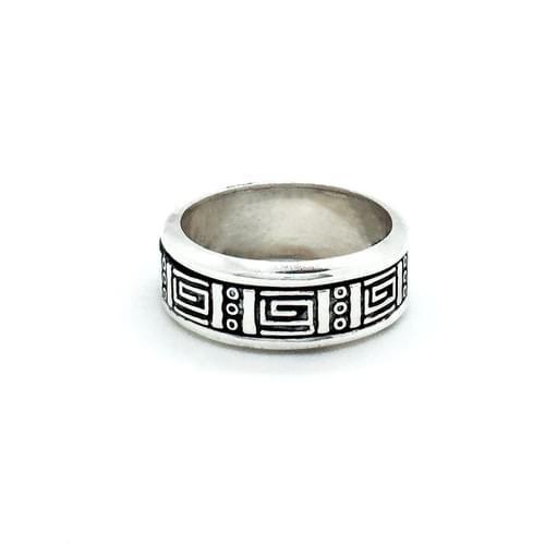 Forgatható sínes gyűrű, görög minta