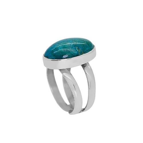 Azurit köves gyűrű  (Cikkszám: 36381)