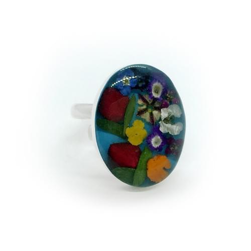Tarka virágos gyűrű (Cikkszám: 41052)