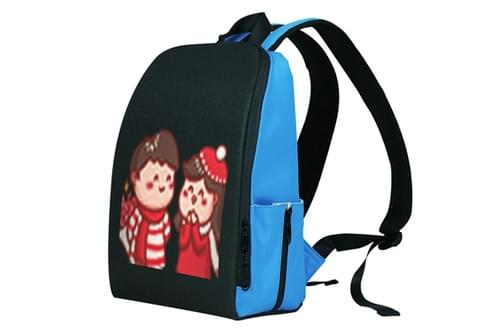 S64-Smurfs LED Backpack Pixel:64*64  Size:29*14*37cm (Free Shipping)