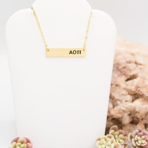 AOP Bar Necklace