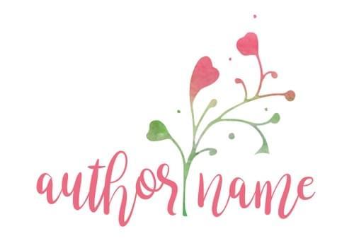 Pink Flower Hearts Logo