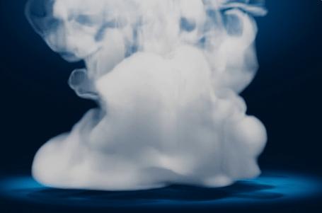 Animated Logo Stinger: Smoke Fall Impact