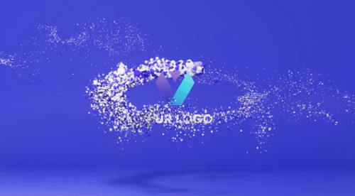Animated Vertical Logo Stinger: Trail of Spheres