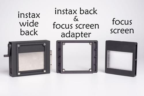 4×5 camera instax wide back(include instax back, focus screen and adapter)