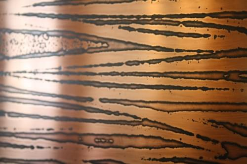 Abstract Copper Square