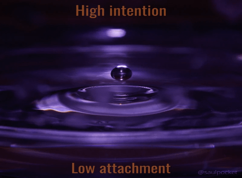 High Intention, Low Attachment