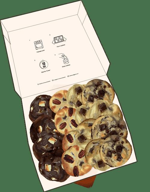 12 mini cookies