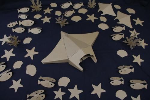 3D Diecut Cardboard - Manta Ray