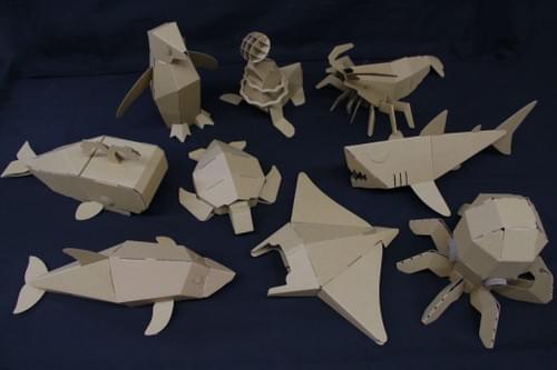 3D Diecut Cardboard - Dolphin