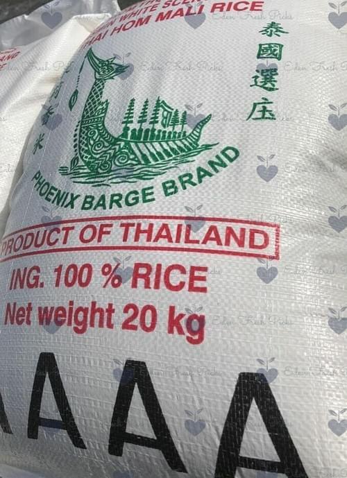 20 Kg Premium Rice - Jasmine, Calrose