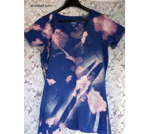 T-shirt d'artiste, inspiration florale / T 40