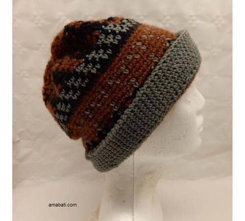 Bonnet jacquard automne - S