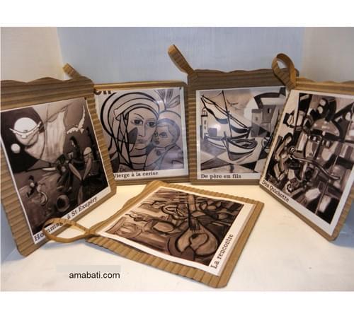 Lot de 5 pochettes cadeaux - noir et blanc n°3