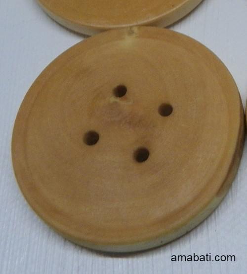 Bouton en buis 4,5cm (prix à l'unité)
