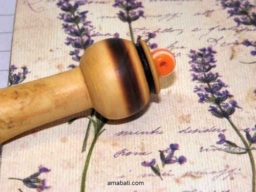 "Stylo en bois de buis -n°2- Marqué ""coeur + Mon Stylo"""