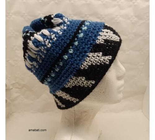 Bonnet jacquard - S