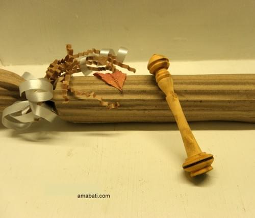 Mini Cuillère à miel en buis-n°11