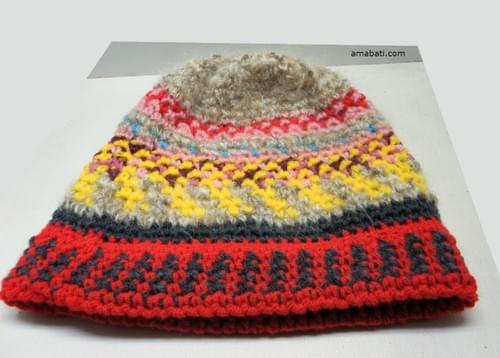 Bonnet multicolore - XL