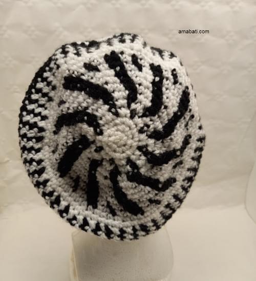 Bonnet noir et blanc - XS / S