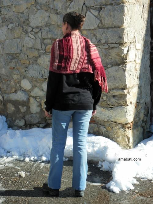 Longue étole à franges - 180cm