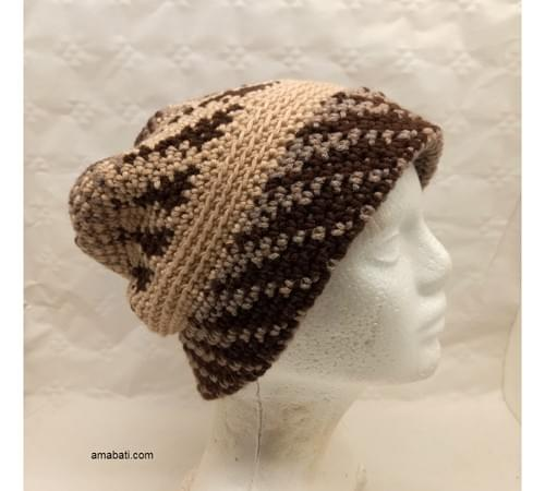 Bonnet merino, cashmere, coton  L/XL
