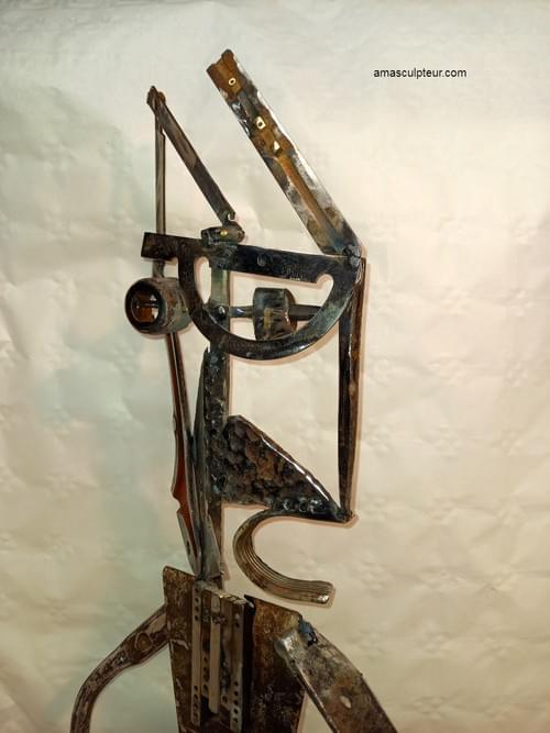 Guerrier perse - sculpture métal