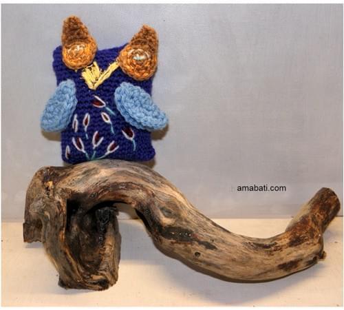 Chouette hibou brodé - à la lavande sauvage