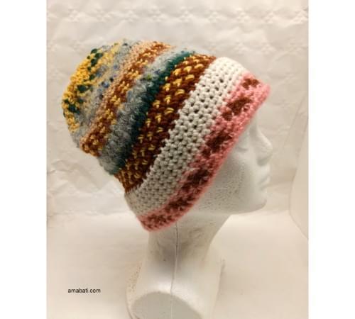 Bonnet multicolore - M