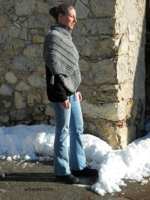 Longue étole en laine - 178 cm