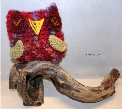 Chouette hibou rouge - à la lavande sauvage