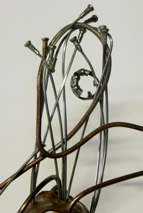 Goliath - Sculpture métal et bois