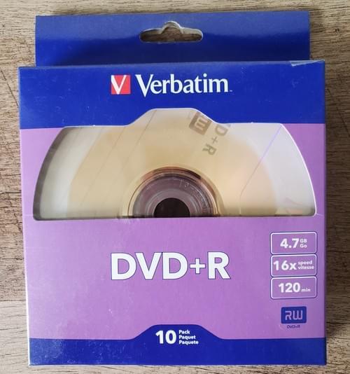 CD o DVD Vírgenes Verbatim