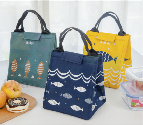 Thermo lunch bag fish pattern