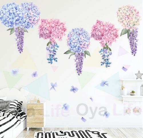 Pink/Purple flower wall paper