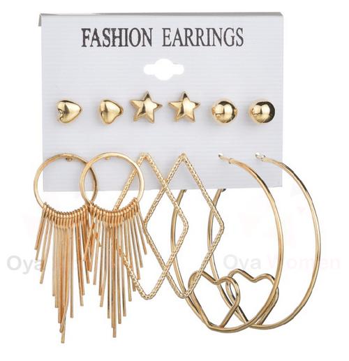 Heart hoops earring