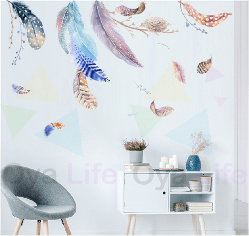 Feather wall paper