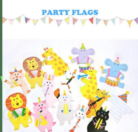 Party flag decoration (animals)