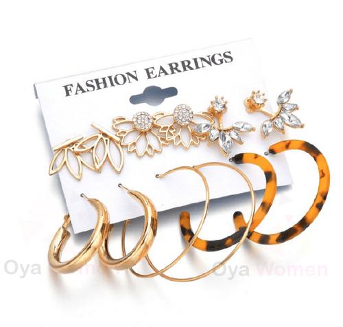 Hoops & flower earring