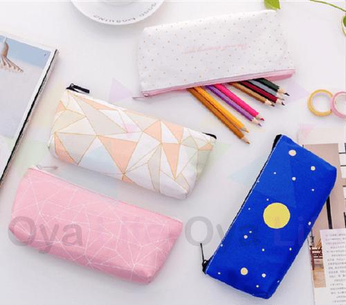 Light color pattern pen pouch(Medium)
