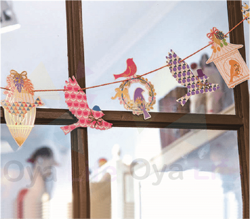 Party flag decoration(Birds)