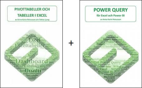 """Bokpaket """"Pivottabeller och tabeller i Excel"""" och """"Power Query - för Excel och Power BI"""""""