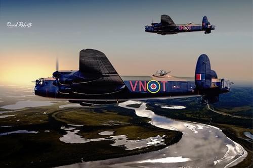 0322 Lancasters' return