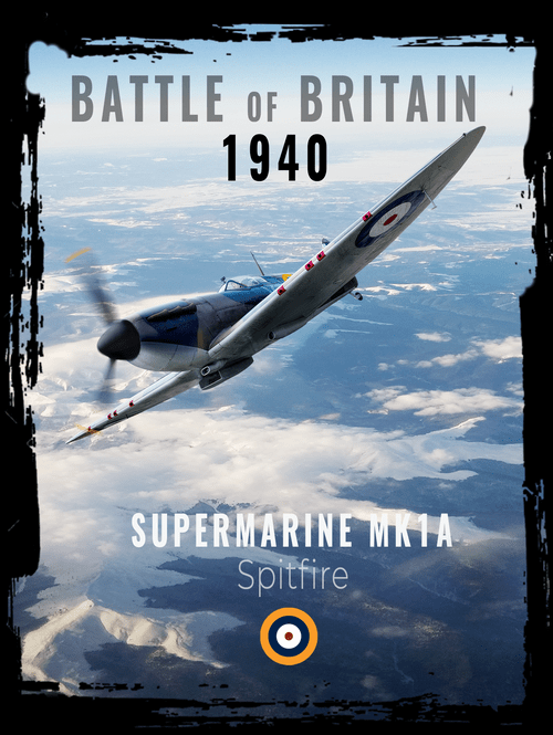 0325 Spitfire Mk 1 also available as a T-shirt