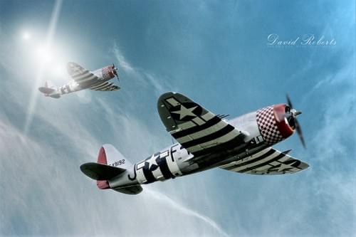 0083 P47 Thunderbolts in formation