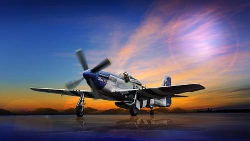 0021 P51D Mustang at sunrise