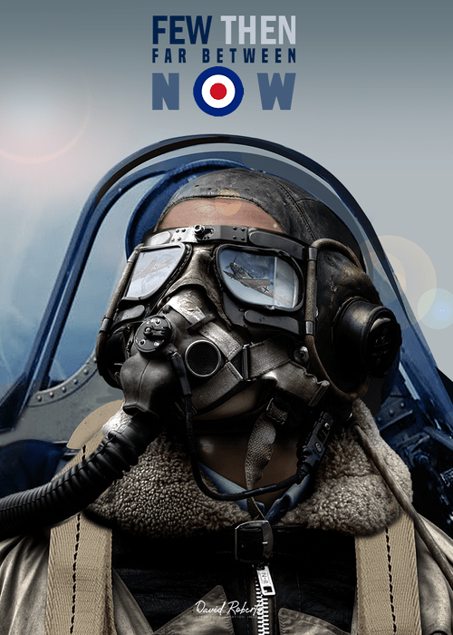 0327a Battle of Britain Spitfire Pilot, now available as a T-shirt